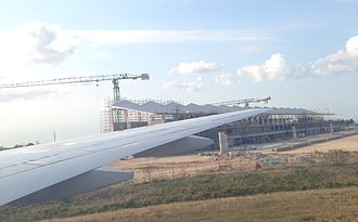 Julius Nyerere International Airport - Terminal III under construction as of July 2015.