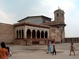 July 9 2005 - The Lahore Fort-Pavillion adjacent to the Shish Mahal.jpg