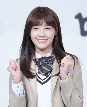 Jung Eun-ji - Jung at the press conference for drama Cheer Up! in October 2015