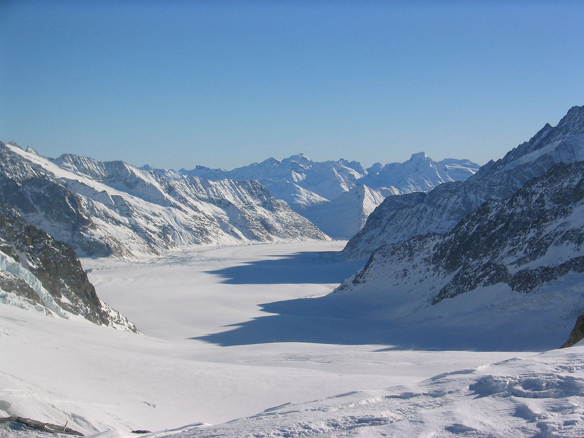 snow-covered peak of the Jungfraujoch, Grindelwald