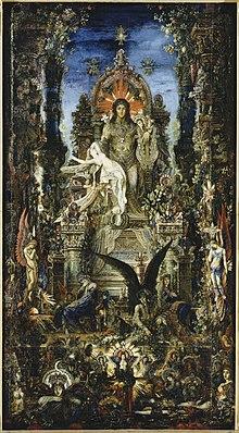 Jüpiter ve Semele, Gustave Moreau, 1895.
