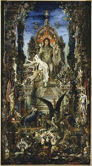 Semele - Jupiter and Semele (1894-95), by Gustave Moreau