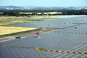 Cadmium telluride photovoltaics - The utility-scale Waldpolenz Solar Park in Germany uses CdTe PV modules