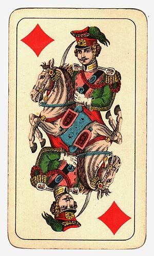 Knight (playing card) - Image: Kártya Hamburger és Birkholz R.T. Budapest (12)
