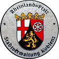 KFZ-Zulassungsplakette der Stadt Koblenz-neu.JPG