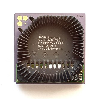 Pentium OverDrive - Pentium Overdrive MMX without fan.