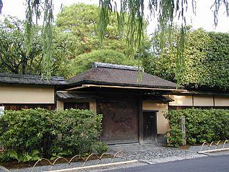 Urasenke - The Kabutomon gate to the historical Urasenke Konnichi-an estate in Kyoto