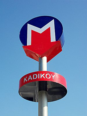 Kadıköy - Metro sign at Kadıköy