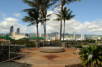 Kakaʻako - View of Kakaʻako from the Kakaʻako Waterfront Park