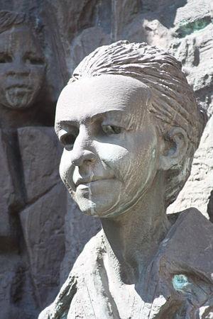 Lyudmila Zhivkova - A sculpture of Zhivkova in Sofia.