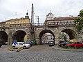 Karlín, Prvního pluku, viadukt, k ulici Za Poříčskou branou (02).jpg
