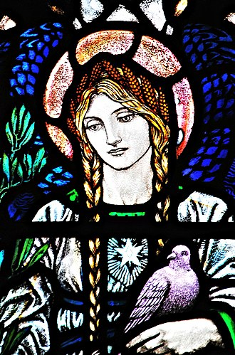 Karl Parsons - 'Peace' window detail (1922) Christ Church, Fulham