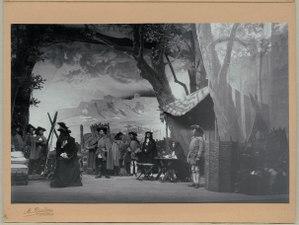 Karl XII, Dramatiska teatern 1902. Föreställningsbild - SMV - H13 030.tif