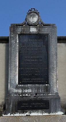Karl von der Mühll-His (1841–1912) Dr. Phil., Professor, Grab auf dem Friedhof Wolfgottesacker, Basel
