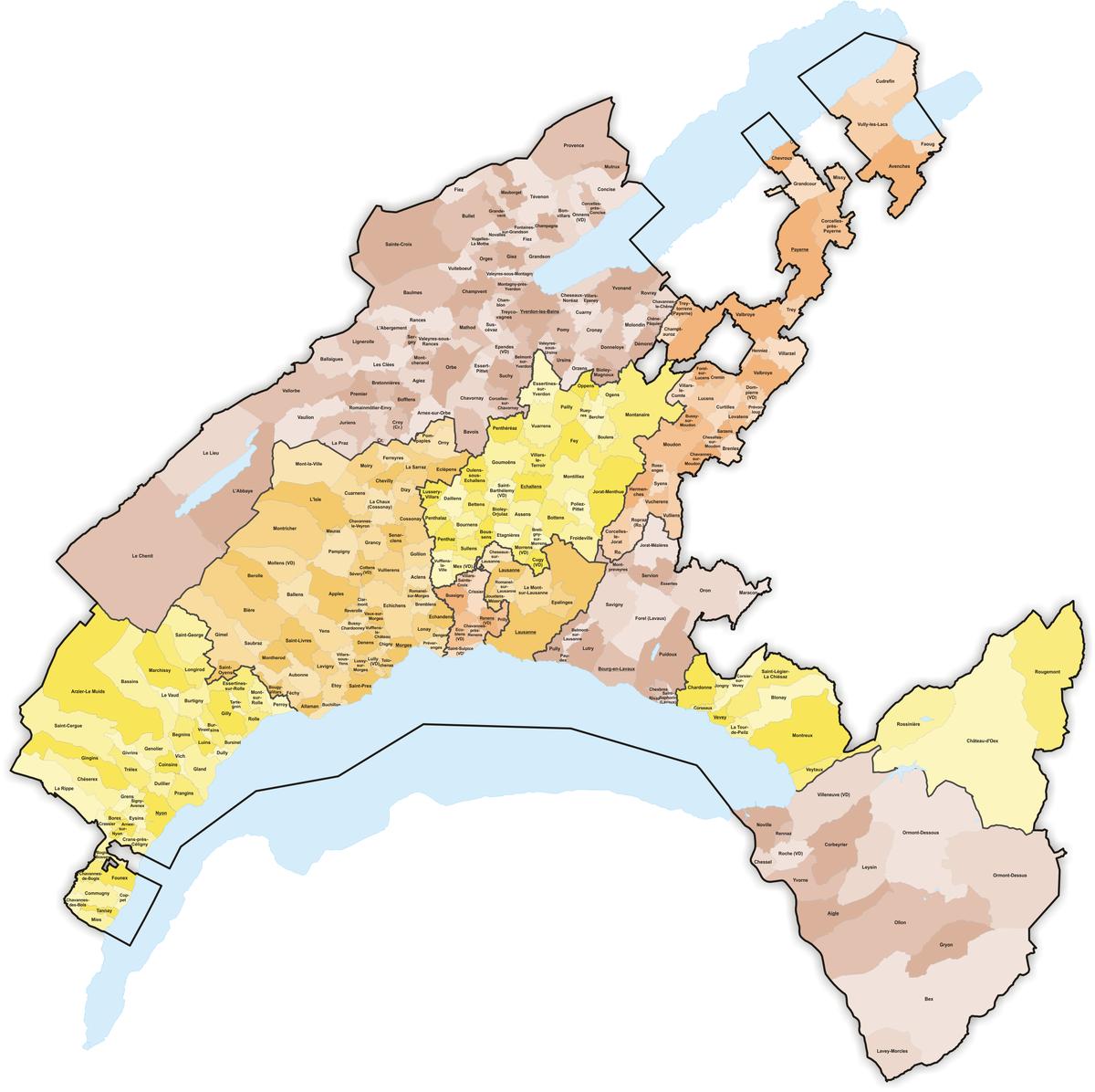 Municipalities of the canton of Vaud Wikipedia