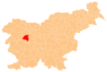 The location of the Municipality of Gorenja Vas–Poljane