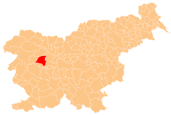 Location of the Municipality of Gorenja Vas–Poljane in Slovenia