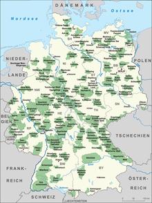 Karte Ostdeutschland.Liste Der Naturparks In Deutschland Wikipedia