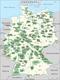 Karte der deutschen Naturparks