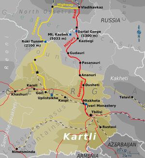 Dmanisi Georgia Map.Kartli Travel Guide At Wikivoyage