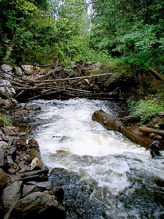 Kazabazua River - The Kazabazua River disappearing underground.