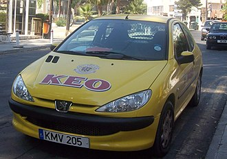 KEO (company) - KEO delivery city car in Limassol, Cyprus.