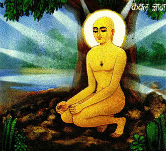 Yoga - The āsana in which the Jain Mahavira is said to have attained omniscience