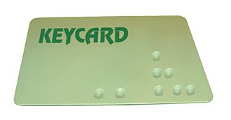"Keycard lock - A mechanical keycard, with ""bumps"" that operate pins inside of the lock (similar to a pin tumbler lock)"