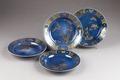 Kinesiska blå porslinstallrikar från 1735-1795 - Hallwylska museet - 95886.tif