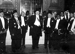 Jamil Mardam Bey - A banquet held by King Farouk of Egypt at Abdeen Palace in Cairo in 1945.