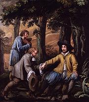 King Charles II in Boscobel Wood by Isaac Fuller