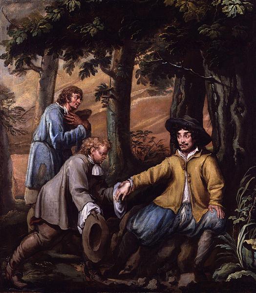 File:King Charles II in Boscobel Wood by Isaac Fuller.jpg