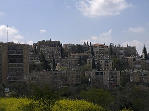 Kiryat Shmuel, Jerusalem - Overview of Kiryat Shmuel from the Monastery of the Cross