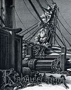 A Klabautermann on a ship, from Buch Zur See, 1885.