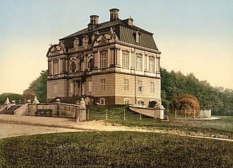 Hermitage Hunting Lodge - The Hermitage seen from east Photochrom prints--Color--1890-1900.