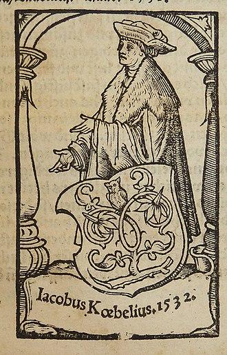 Jacob Köbel - Image: Koebel J