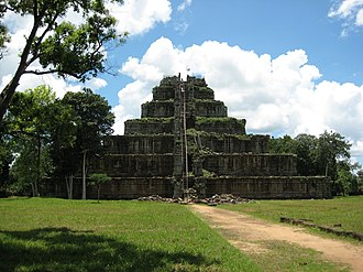 Pyramid - Prasat Thom temple at Koh Ker, Cambodia