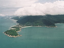 Ko Pha-ngan from the air