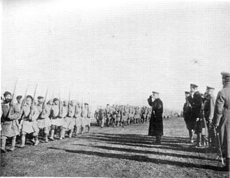 Russian Civil War - Admiral Kolchak reviewing the troops, 1919