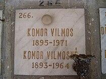 Komor Vilmos sírja.jpg