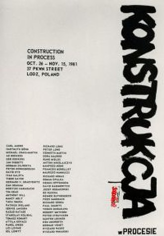 Ryszard Wasko - Construction in Process, poster from the exhibition held in Lodz