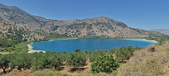 Lake Kournas - Image: Kreta Kournas See