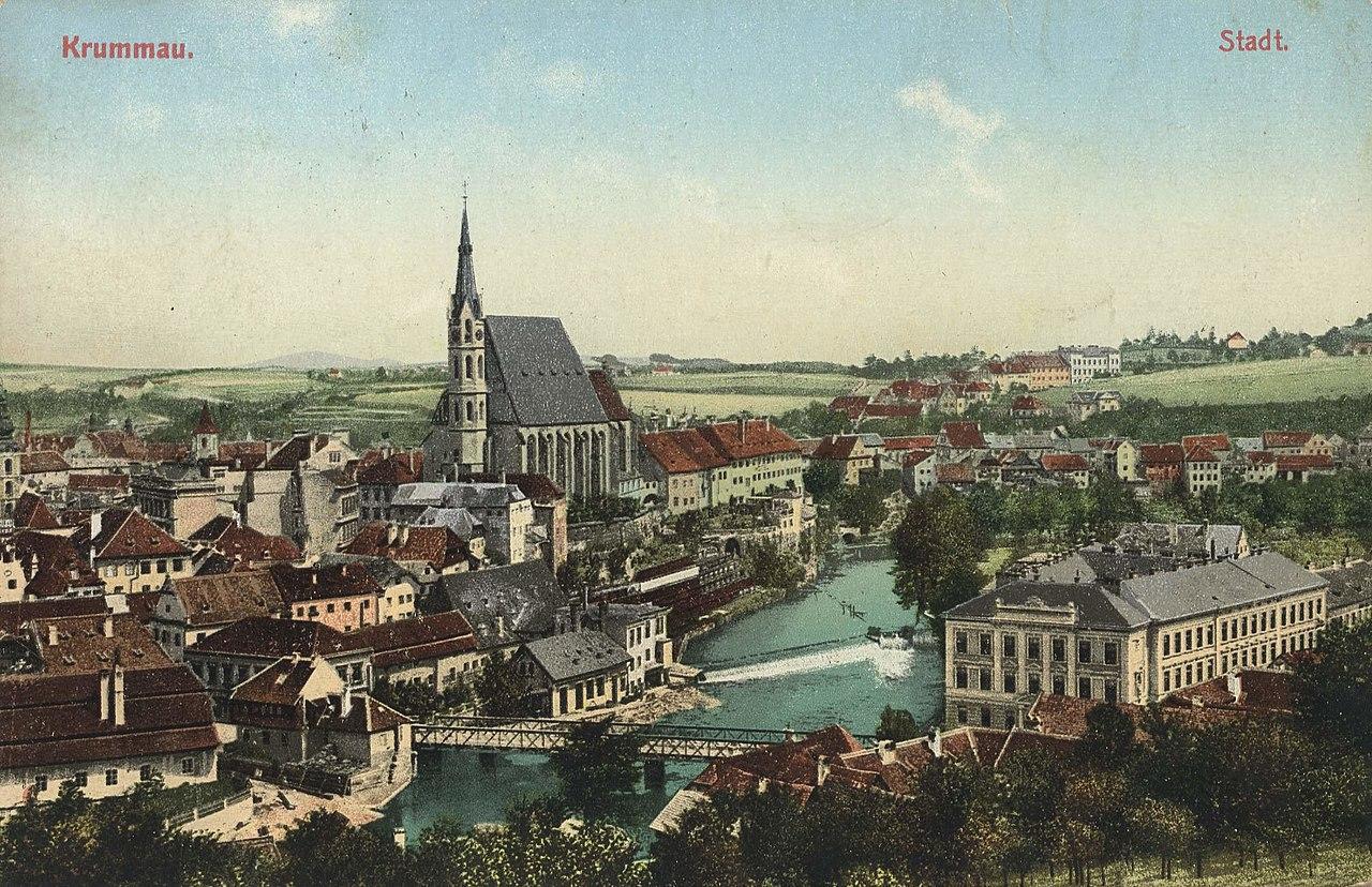 Krummau (CZ), Tschechien - Stadtansicht (Zeno Ansichtskarten).jpg