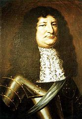 Friedrich Wilhelm, the Great Elector in armor and with a sash, painting from 1663