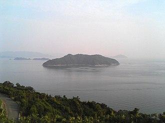 Kuro-shima (Ehime) - A view of Kuro-shima from the Sadamisaki Peninsula