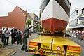 Kustvissersvaartuig OD.1 Martha wordt overgebracht naar het nieuwe Nationaal Visserijmuseum te Oostduinkerke - 372703 - onroerenderfgoed.jpg