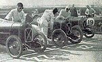 L'écurie Salmson, au départ des 'Junior Car Club 200 mile' de Brookland, en septembre 1925.jpg