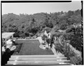LAWN TERRACE, LOOKING SOUTHWEST FROM HOUSE - Woodhills, Prospect Road, Cupertino, Santa Clara County, CA HABS CAL,43-CUP,1-5.tif