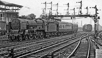 LMS Patriot Class - 45500 Patriot at Manchester Victoria, 1960.