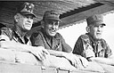 LTG James W. Sutherland (center) CG, XXIV Corps, looks out from FSB Ryder with COL Edmund G. Derning Jr. (left) CO 7th Marines, and MG Charles F. Widdecke, CG 1st MD.jpg